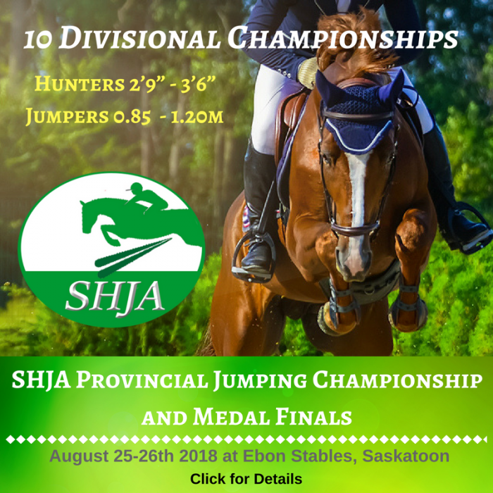 SHJA Provincial Jumping Championship and Medal Finals